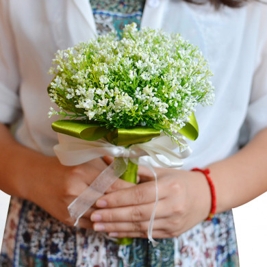 Beautiful Green Grass Wedding bouquets for bridesmaids