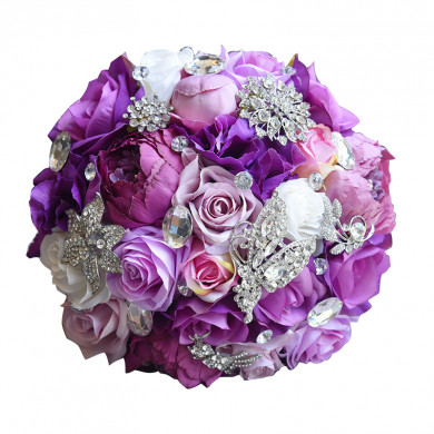 Fuchsia and pink wedding bouquets for bride and bridesmaids