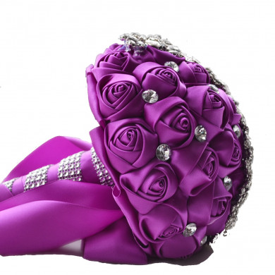 Grape Hand Beading Artificial Rose for Bride holding flowers