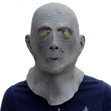 Halloween Masks Horror Old Man Latex Terror Blue Male Head Rubber Masks