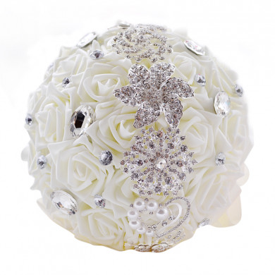Hand Beading Home Garden Party Wedding holding flowers