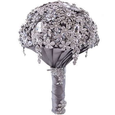 Luxurious Hand Beading Glass Crystal for wedding bouquets for bride