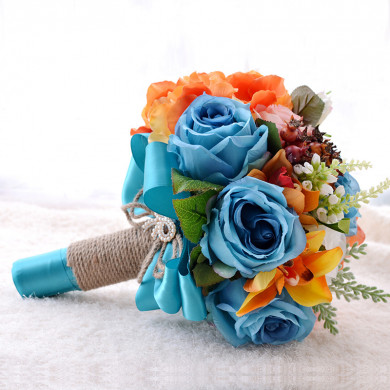 Popular artificial wedding bouquets for Garden Wedding Party holding flowers