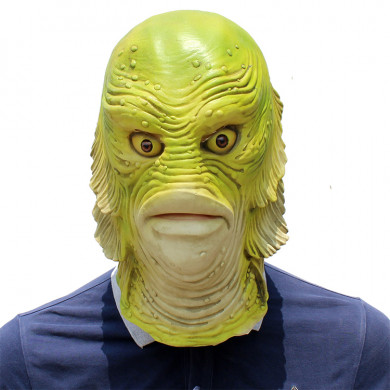 Funny Halloween Latex Cute Masquerade Rubber Golden Fish Masks