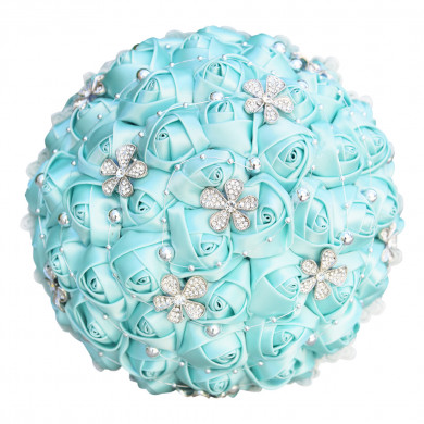Hand Beading Tiffany Bridesmaid Bouquet for Home Garden Party Wedding