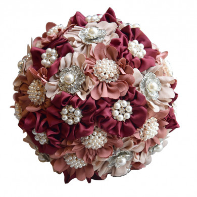 Elegant Burgundy Champagne and pink for Home Garden Wedding Party holding flowers