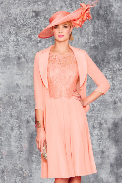 2PC Blushing Pink Mother of the bride dress With Jackets mps-383-1