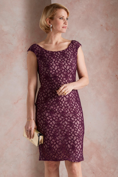 2PC Mother of the bride Dress Burgundy Women