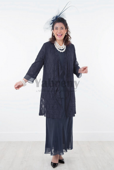 New Arrival Dark navy Mother of the bride pant suits dress four outfits mps-019