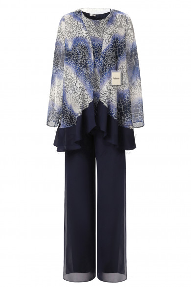 Yabreny Mother of the Bride Pants suit Dark Navy Printcloth MT001701