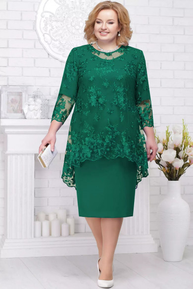 Plus size Green Knee-Length Mother of the bride dress mps-185