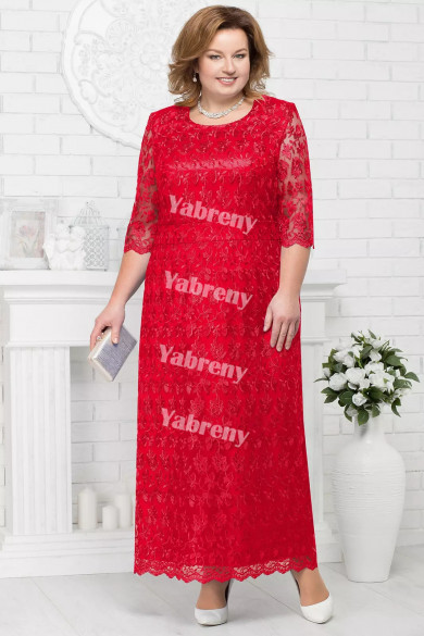 Plus Size Red Mother of the Bridal Dresses Cheap Knee-Length Women