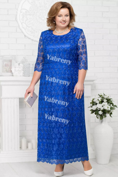 Plus Size Royal Blue Mother of the Bridal Dresses Cheap Knee-Length Women