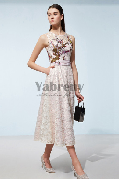 Hot Sale Modern Embroidery prom Dresses cyh-008