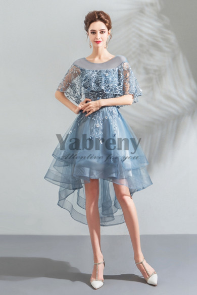 Yabreny New Style Sky Blue Front Short Long Back Homecoming Dresses cyh-026