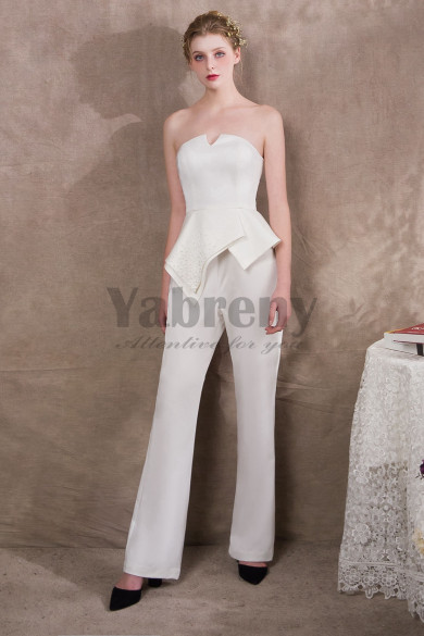 2019 New arrival Italian satin Wedding Jumpsuits Suits so-035