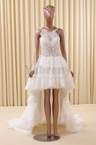 2020 Dressy New arrival Lovely High-low Wedding dresses wd-010
