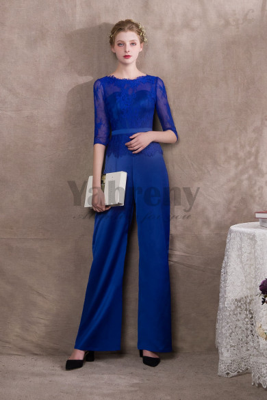 Modern Royal Blue Prom dresses bridal Jumpsuits so-028