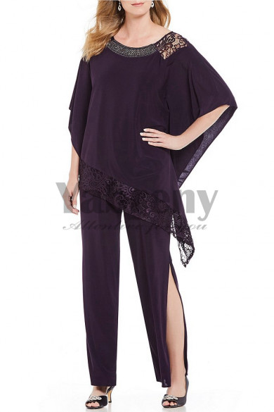 2020 New arrival Purple Mother of the bride Pant suits dress mps-118