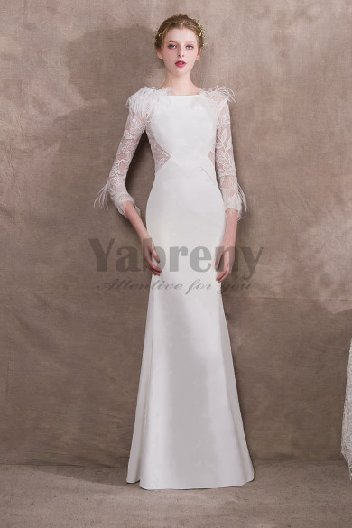 2020 New arrival Elegant Prom dresses with Feathers so-021