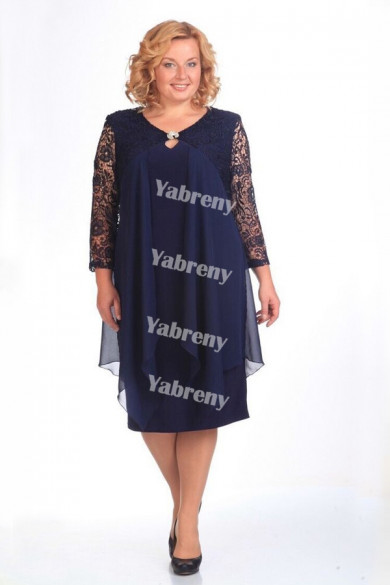 2021 Plus Size cheap Mother Of The Bride Dresses Dark Navy Women