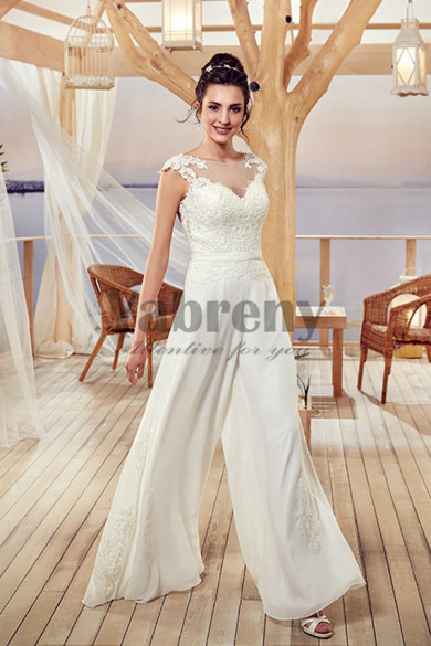 Bridal Jumpsuits Wedding gowns Culottes Wide leg pants so-107