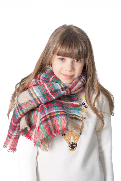 2019 Girls Plaid Scarf Spring Fall Winter Scarves Classic Square Shawl free shipping