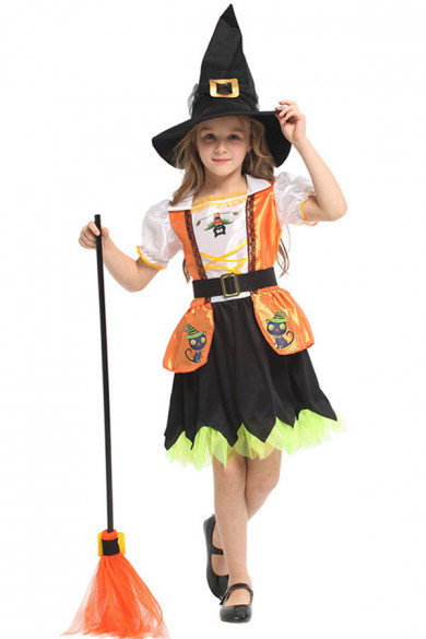 Gold Color Witch Halloween Costume Toddler Girls free shipping