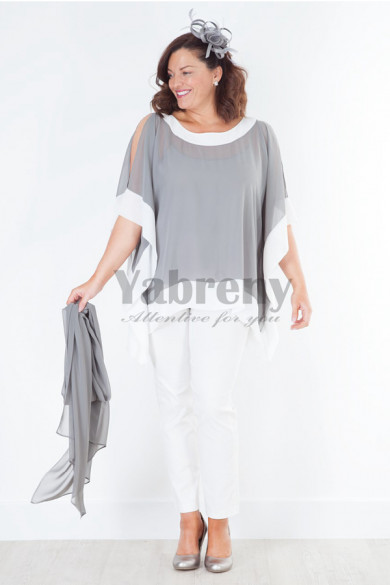 Gray top withe pants Mother of the bride outfits Women