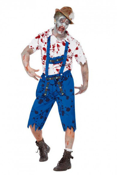 Halloween Costumes Scary Blood Corpse workers Costumes For men free shipping