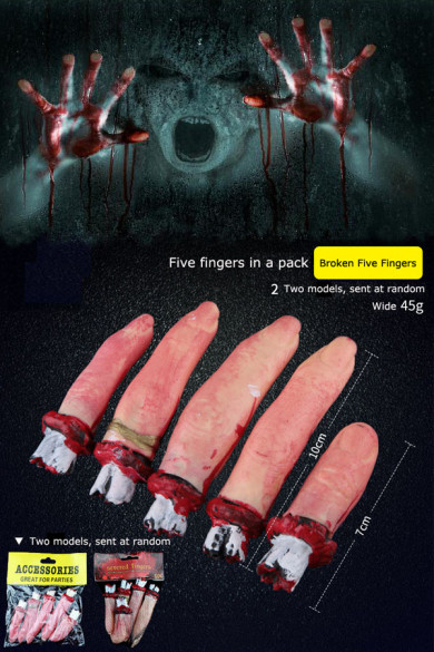 Halloween props decoration horror broken hands, broken feet, broken limbs, broken feet toys free shipping
