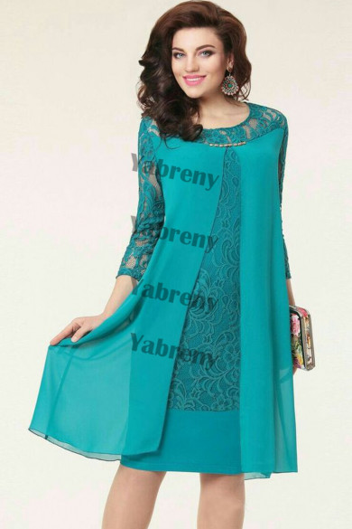 Jade Green Modern Loose Mother Of The Bride Dresses mps-375