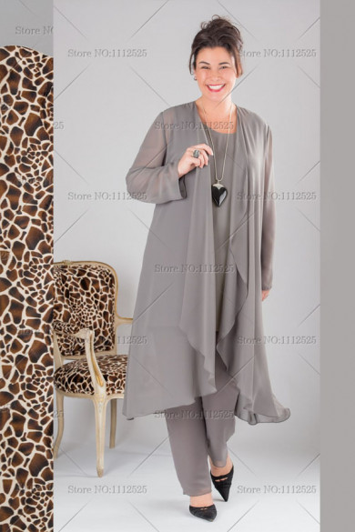 larger size Gray Mother of the Bride groom Clothes mps-145