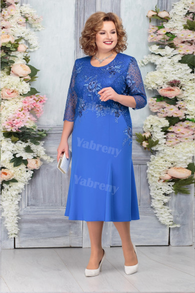 Light Royal Blue Mother of The Groom Dresses, Plus size Mother of The Bride Dresses mps-478-2