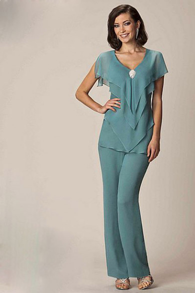 Modern Cheap Chiffon Two Picec mother of the bride pants suits mps-171