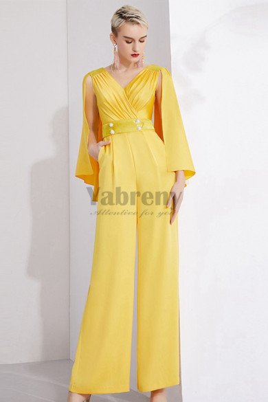 New style Gold Prom pantsuit Dresses Cocktail jumpsuits so-156