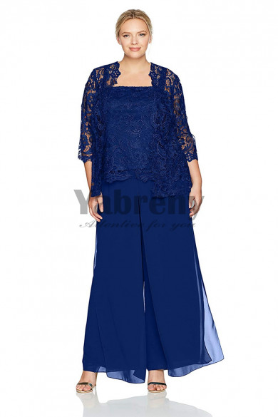 Royal Blue larger size Mother of the bride pant suits mps-137