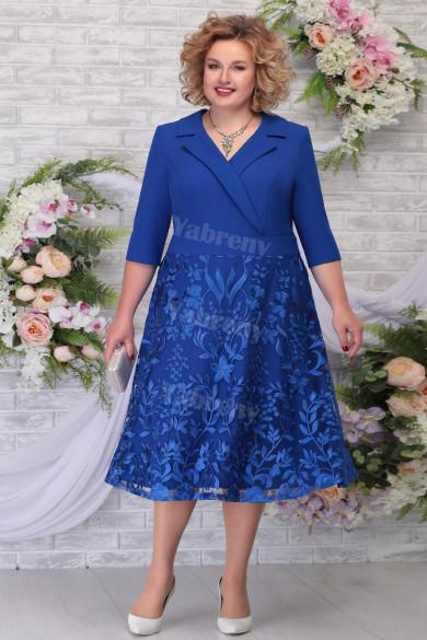 Royal Blue Plus Size Mother Of The Bride Dress Special Occasion Women