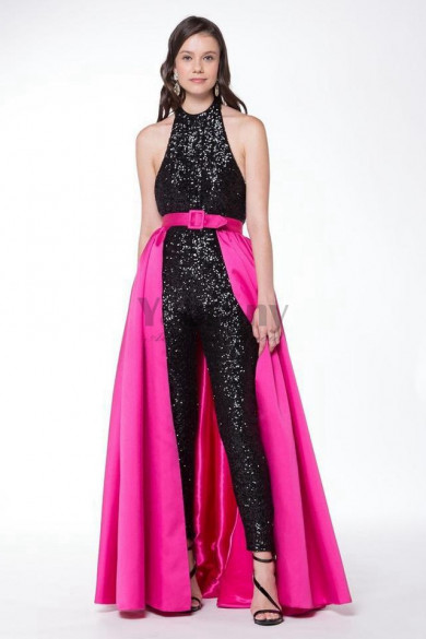 Sexy Prom Jumpsuits with  detachable skirt Cocktail Dresses so-192