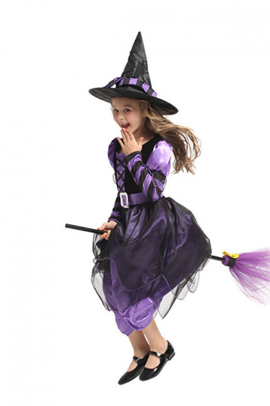 Spooktacular Fairytale Witch Cute Witch Costume Deluxe Set for Girls free shipping