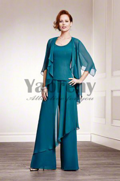 Spring Hunter green Tank mother of the bride pantsuits mps-192