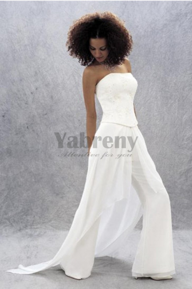 Hot Sale Strapless bridal jumpsuit for wedding so-099