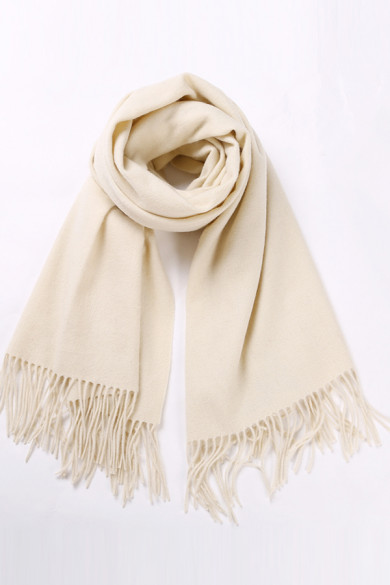 Stylish Pure Color Brige Wool Scarves for Autumn and Winter with tassels