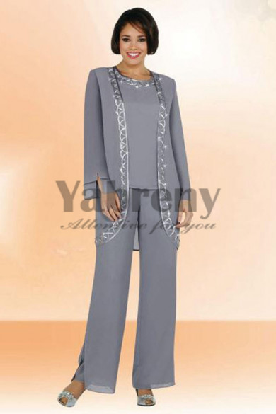 Three Piece  mother of the bride pants set mps-197