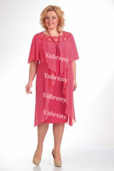 Watermelon Hand Beading Mother Of The Bride Dresses Plus size women