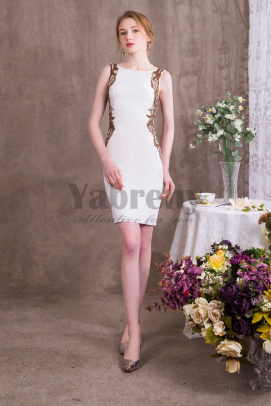 2019 Fashion Prom dresses Hand Beading Short Sheath Dresses so-003