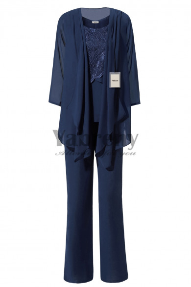 Yabreny Dark Navy Latest Fashion Mother of bride Pant suits mps-272