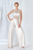 2020 Fashion Bridal jumpsuit satin wedding dress Sposa so-084