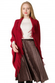 Uniform Size Women's Poncho Crochet Knitting Cape Fringed Hem Ladies Knitted Cape Cloak