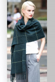 2019 Latest Fashion Basulan Wool Dark Green Woman's Scarfs Shawl